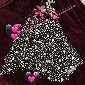 🖤🐾Larry Levine Polka Dot Skirt.